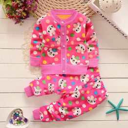 BibiCola Autumn winter baby girls Christmas clothing set