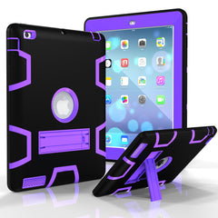 Case For ipad 2 3 4 Tablet PC Shockproof Silicon+PC Stand Back Case