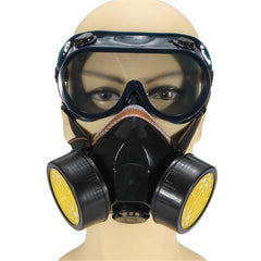 Dual Anti-Dust Spray Paint Industrial Chemical Gas Respirator Mask