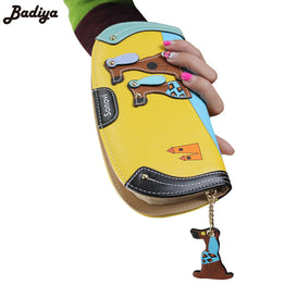Long Wallet Women PU Leather Cartoon Dog Wallets Lady Clutch