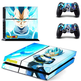 Dragon Ball Vegita Design Vinyl Protective Sticker for PS4 Console