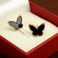 Gold-plated Temperament Personality Butterfly Stud Earrings For Women