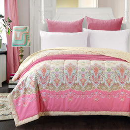Beige pink bohemian air-condition quilt 150*200cm 200*230cm size