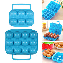 Portable Plastic 6/12 Grids Eggs Container Holder Folding Eggs Storage Box 1pcs