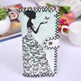 Multi-card Position Ethnic Style Wallet & Card Holder Ladies Clutch