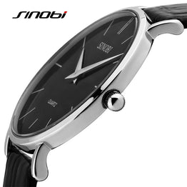 Sinobi Ultra Slim Luxury Sports Leather Watch for Women
