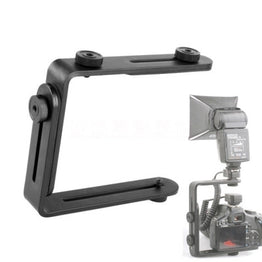 Camera flash bracket L bracket bilateral frame twin double L bracket