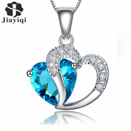 Silver Plated Zircon Crystal Fashion Jewelry Necklace For Women