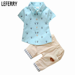 Clothing Set with Printed Shirt + Short Pants