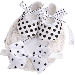 Party Shoes & Hair Accessories Set for Newborn Baby Girl