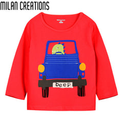 Long Sleeve Kids Cartoon T-shirt for Boys