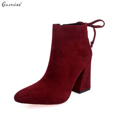 Autumn / Winter high heels Short Cylinder ankle boots for Women