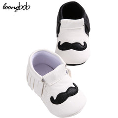 non Slip Footwear Little Beard Design Crib Shoes
