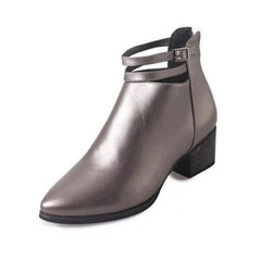 Autumn & Winter Leather Boots for Women