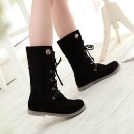 Classic Vintage Lace Up Spring Autumn Boots for Women