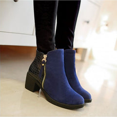 Stylish High Quality Zip Solid Boots