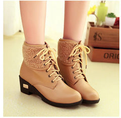 Autumn and Winter Genuine Leather Ankle Boots for Women