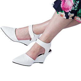 High Heels Pointed Toe Casual Pump Wedges for Women