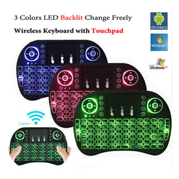 Illuminated i8 Air Mini Wireless Keyboard Remote Control Touchpad