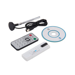 Digital DVB-T2/T DVB-C USB 2.0 TV Tuner Stick HDTV Receiver with Antenna Remote Control