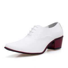 2.3 inches heel mens leather shoes