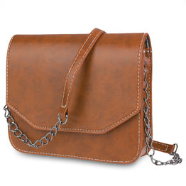 Retro Style Magnet Button Chain Belt Strap Shoulder Bag for Women