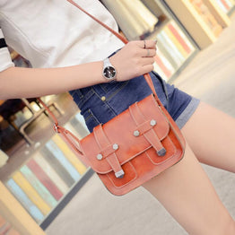 Retro Style Solid Vintage Flap Cross body shoulder bag for Women