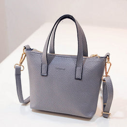 New fashion embossed PU leather mini portable top handle Bag for women