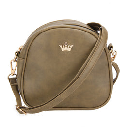 Unique Imperial Crown Design PU Leather Cross body Bag for Women