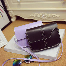 Elegant Solid Design Crossbody Leather Bag for Women