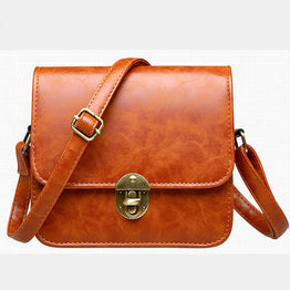 Vintage Luxury PU Leather Retro Canta Red Cross Body bag for Women