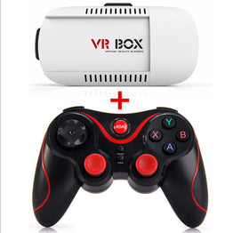 VR BOX Virtual Reality Headset + New Terios S3 Bluetooth Wireless Joystick Game Remote Controller