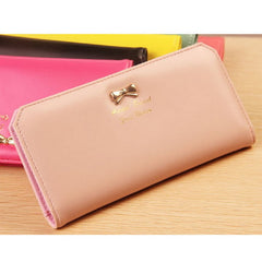 Bowknot Credit Card Holder Leather Wallet & Clutch for Women