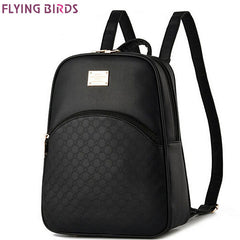 FLYING BIRDS Mochila Rucksack Leather Backpack for Women