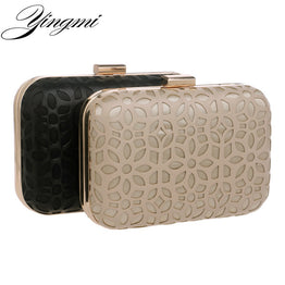 Hot Pu beaded clutch bags leather women