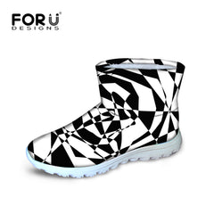 Classic Black and White Fashion Short Boots for Men