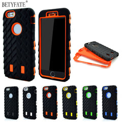 iPhone 6S Case tire rubber Dual Layer TPU Hard Plastic & Silicone Heavy Duty Armor
