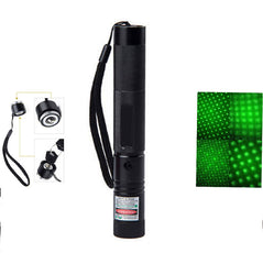 Adjustable Focal Burning Match Green Laser Torch