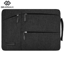 Gearmax Laptop Bag Black/Gray for Men/Women with Woollen Felt For Macbook Pro