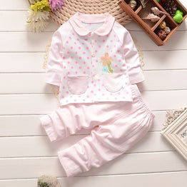 Infant clothes toddler children autumn baby girls boys clothing sets 2pcs