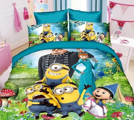 Minions Cartoon Printed 3pcs Bedding Sets for Children