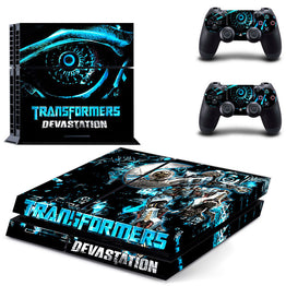 Devastation Transformers Vinyl Decal Skin Protector Sticker For Sony Playstation 4 Console