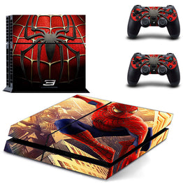 Spiderman Skin Vinyl Skins Sticker for Sony PS4 Console