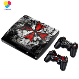Bio-hazard Umbrella Corp. Vinyl Skin Sticker for PS3 Slim Console