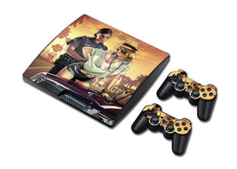 GTA-V Slick Skin Sticker For PS3 Slim Game Console