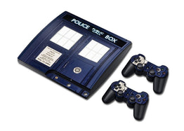 Police Design Skin Sticker For PS3 Slim Console