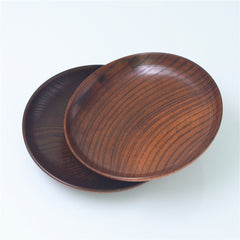 2 Pcs Wooden Serving Dish Dinner Plates