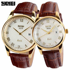 2017 New Multi-Color Leather Strap Couple Watch