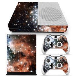 Galaxy Stars Design Vinyl Decals Stickers for Xbox One S Console