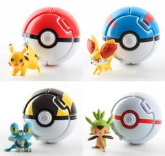 4pcs/set Pokeball Go Pocket Monster Explosion